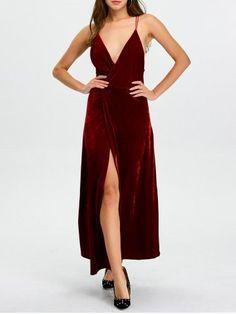 GET $50 NOW | Join RoseGal: Get YOUR $50 NOW!http://www.rosegal.com/maxi-dresses/plunge-high-slit-christmas-party-922608.html?seid=i9su0ccclk8t1dm2djkrcomr91rg922608