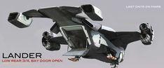 Bay Door, Flying Vehicles, Spaceship Design, Concept Ships, Pictures, Sci Fi, Digital Art, Backgrounds, Photos