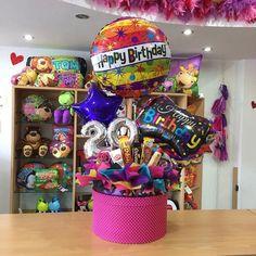 Birthday Candy, Birthday Box, Birthday Balloons, Birthday Gifts, Alcohol Gift Baskets, Candy Gift Baskets, Candy Gifts, Gift Card Bouquet, Candy Bouquet