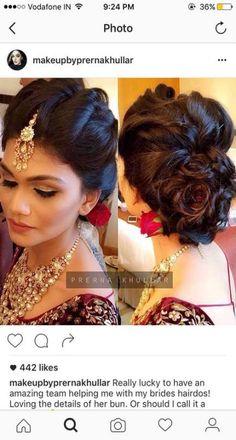 Indian Wedding Hairstyles 2016 Princess - pin on hair Indian Wedding Hairstyles 2016 Groom - pin on hair<br> Bridal Hair Buns, Bridal Hairdo, Hairdo Wedding, Wedding Hair Pieces, Wedding Makeup, Wedding Dress, South Indian Bride Hairstyle, Indian Wedding Hairstyles, Bride Hairstyles