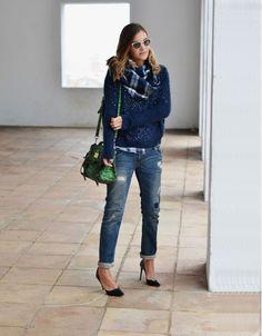 Jeans: Zara (old)  . Jersey / Jumper: Q2 via BUYLEVARD  . Camisa / Shirt: Topshop. Bufanda / Scarf: Kids Studio. Bolso / Bag: Mulberry