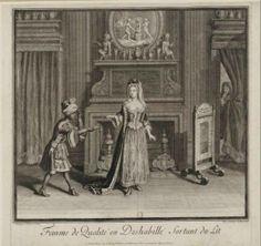 Jean Dieu de Saint-Jean (1654?-1695) – Femme de qualité en deshabillé sortant du lit, 1688 - Paris, Bibliothèque Nationale de France