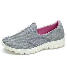 Comfortable Mesh Pure Color Soft Flat Casual Women Shoes