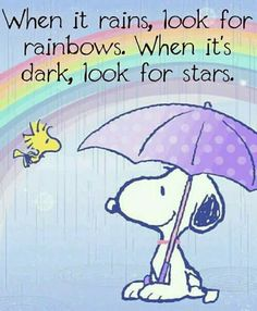 Snoopy & Woodstock under rainbow. April showers bring May flowers. Charlie Brown Quotes, Charlie Brown And Snoopy, Peanuts Cartoon, Peanuts Snoopy, Phrase Cute, Snoopy Und Woodstock, Snoopy Wallpaper, Snoopy Quotes, Peanuts Quotes