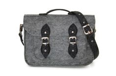 Felt Laptop bag 15 inch with pocket satchel sleeve by etoidesign, $69.00