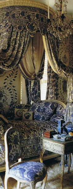 Lillian Williams's Louis XV chateau in Normandy… photographed by Fritz von der Schulenburg and featured in World of Interiors in April of 1994…