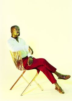 """David Adjaye on one of a line of chairs that he recently designed for Knoll. """"For me, architecture is a social act,"""" he says."""