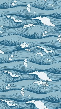 Wallpaper Ondas by Gocase Waves Wallpaper, Iphone Wallpaper Vsco, Homescreen Wallpaper, Iphone Background Wallpaper, Pastel Wallpaper, Blue Wallpapers, Tumblr Wallpaper, Aesthetic Iphone Wallpaper, Animes Wallpapers
