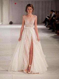 2015 paolo sebastian real sheer beach wedding dresses
