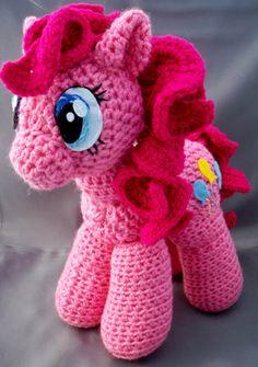 Pinkie Pie inspired Pony amigurumi by LLsCreations83 on Etsy, $44.99 www.LLsCreations83.etsy.com