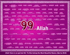 99 names of Allah #islam #Quote #religion