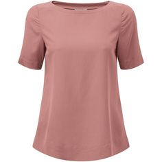 Pure Collection Silk T-Shirt , Dusty Rose (5.245 RUB) ❤ liked on Polyvore featuring tops, t-shirts, dusty rose, layering tees, silk t shirt, double layer t shirt, summer t shirts and short sleeve tee