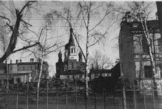 Красногвардейск (Гатчина). 1941 г. Вид на Покровский собор с проспекта 25 Октября