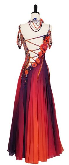Ballroom Dance Dresses | Work Of Art | Smooth & Standard Dresses | Encore Ballroom Couture