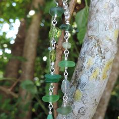 La Primavera Bracelet With Green Sea Glass And Assorted Gemstones | Out Of The Blue Sea Glass Jewelry