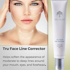 Tru Face Line Corrector helps soften the appearance of moderate to deep lines around your mouth, eyes, and forehead. This targeted approach helps diminish the most aggressive signs of aging while still being gentle and safe for all skin types. Nu Skin, Lines Around Mouth, Beauty Skin, Health And Beauty, Galvanic Body Spa, Hydrating Eye Cream, Skin Line, Face Lines, Healthy Skin Care
