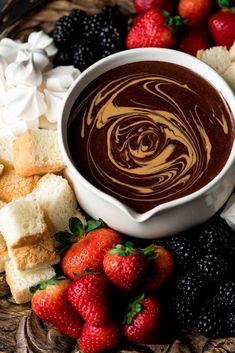 If chocolate & peanut butter is your love language, then you need to make this Dairy-Free Chocolate Peanut Butter Fondue recipe! It's the perfect desert for Valentine's Day or to serve at a Galentine's Day Brunch! It's vegan, gluten-free & dairy-free! Chocolate Peanut Butter Fondue Recipe, Chocolate Pudding Cake, Peanut Butter Recipes, Chocolate Treats, Creamy Peanut Butter, Chocolate Recipes, Chocolate Fondue, Vegan Gluten Free Desserts, Paleo Dessert