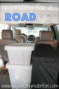 Get ready for your next road trip - the organized way!! I need a road trip!