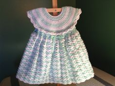 How to Crochet a Baby Dress - Easy Shells