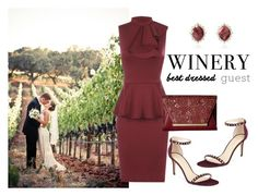 """Winery"" by ariannapeach ❤ liked on Polyvore featuring WearAll, Marc Fisher, Jessica McClintock, napa, winerywedding, bestdressedguest and vineyardwedding"