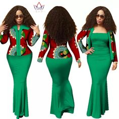 BRW 2017 Autumn African Dresses for Women dashiki 2 Piece Dress Crop Top Long Dress Suits Plus Size Traditional Clothing African Fashion Designers, African Inspired Fashion, Latest African Fashion Dresses, African Dresses For Women, African Print Dresses, African Print Fashion, African Attire, African Wear, African Women