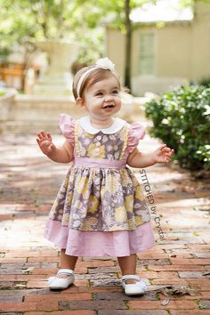 I am really excited to be a part of The Cottage Mama's dress pattern blog tour today! I got to sew up this sweet little Georgia Vintage Dr...