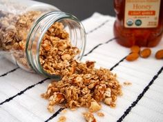 The easy granola recipe is a healthy option for any breakfast or snack. Made with energy-rich rolled oats, almonds, and honey as a natural sweetener.