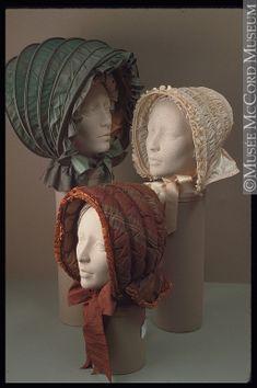 Bonnets (caleches), Canada (?), 1800-40