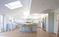 Single storey wrap-around extension – Kingston Kitchen Family Rooms, Kitchen Living, New Kitchen, Kitchen Decor, Kitchen Design, Kitchen Ideas, Kitchen Layout, Kitchen Diner Extension, Open Plan Kitchen Diner
