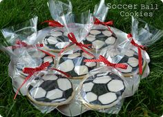 Soccer Ball Cookies for end of season party