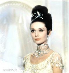 Audrey Hepburn- My Fair Lady ball dress close up