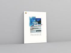 Macintosh SE  Mounted Promotional Advertisement | Apple Computer Poster