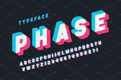 39 Best 3D Fonts images in 2019 | Fonts, Vintage fonts