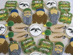 Duck Dynasty Decorated Sugar Cookie Collection by MartaIngros on Etsy