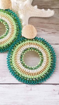 Seed Bead Earrings, Beaded Earrings, Earrings Handmade, Seed Beads, Crochet Earrings, Bead Jewellery, Diy Accessories, Beading Tutorials, Ropes