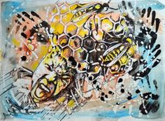 "Saatchi Art Artist Misha Dontsov; Painting, ""Honey in the Lion"" #art"