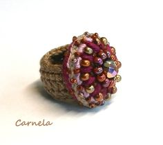 Rings – crochet ring – a unique product by TiffiTwist on DaWanda