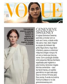 "The Soar wool cashmere textured jumper featured in this months @voguebrasil "" Un Novo Tempo""  Celebrating slow fashion with Premium British knitwear!  Check out our Soar unisex style via our bio link with free international delivery . . . #genevievesweeney #premium #british #knitwear #slowfashion #voguebrasil #vogue #voguejaneiro #invogue #slowfashionmovement #unnovotempo #brazil #madeinbritain #britishdesign #britishdesigner #luxury #heritageskills #mademyyear #gsknitwear #womenswear…"