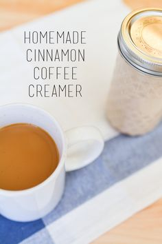 Homemade cinnamon coffee creamer recipe. It's the perfect fall addition to your coffee!