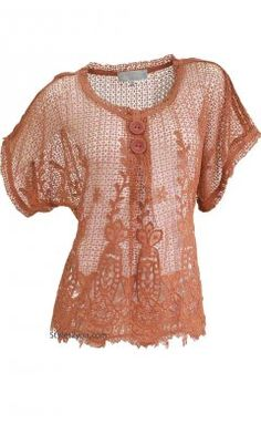 Phillis Lace Blouse In Rust