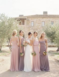 Elegant and Romantic Bridesmaid Dresses