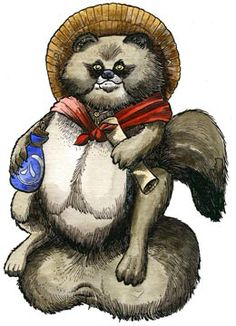 Tanuki- Japanese folklore: a yokai that its appearance is of a raccoon dog. They were said to have 8 forms including a human form. They guard all things if nature. Their yokai name is Bake-Danuki. They are usually depicted with giant testicles. Japanese Raccoon Dog, Japanese Yokai, Japanese Monster, Japanese Folklore, Legendary Creature, Japanese Characters, Weird Art, Character Design References, Sci Fi Art