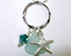 Seafoam Sea Glass Necklace Sea Glass Jewelry N-311