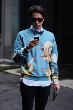 STREETSTYLE | Milan Fashion Week FW15                     For the third day of Milan Fashion Week, Emilio Murolo bring us new looks photographed in the streets of Milan in exclusive for Fucking Young!