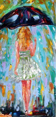 Chica del paraguas por Karen F.