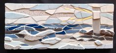 Hope you are all keeping safe in the winds we are having - in this mosaic I have used different depths and textures of tiles to create a stormy sea - thank goodness for the lighthouse! Just to say too that my offer closes in three days time - details in comments - do take a look! Fx