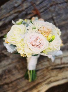 #garden-roses, #bouquet  Photography: Jessica Burke - jessicaburke.com Event Planning: Coastside Couture - coastsidecouture.com Floral Design: Lezlie Johnson - montereyeventflowers.com  Read More: http://stylemepretty.com/2013/06/20/santa-cruz-wedding-from-jessica-burke-coastside-couture/