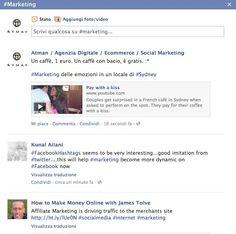 Anche su Facebook sono arrivati gli #hashatag: ecco la nostra prima ricerca per la parola #marketing | http://www.atman.it/abc-dei-social-media/notizia-social-media-strategist-non-sono-arrivati-gli-hashtag-su-facebook/