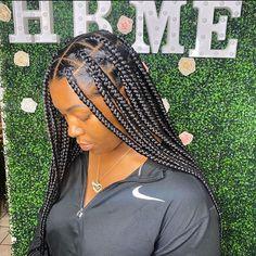 Box Braids Hairstyles For Black Women, Braids Hairstyles Pictures, Faux Locs Hairstyles, African Braids Hairstyles, Baddie Hairstyles, Braids For Black Hair, Girl Hairstyles, Hairstyle Short, School Hairstyles