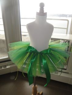 green tutu making this for my ninja turtle costume  and a orange ribbon